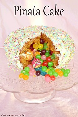 GATEAU PINATA RECETTE & TUTORIEL PINATA CAKE
