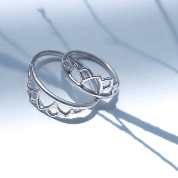 Unique Solid Platinum Wedding Ring Tiara Lotus Delicate Fine Jewellery Australian Handmade Platinum Wedding Rings Unique Silver Jewelry Platinum Wedding