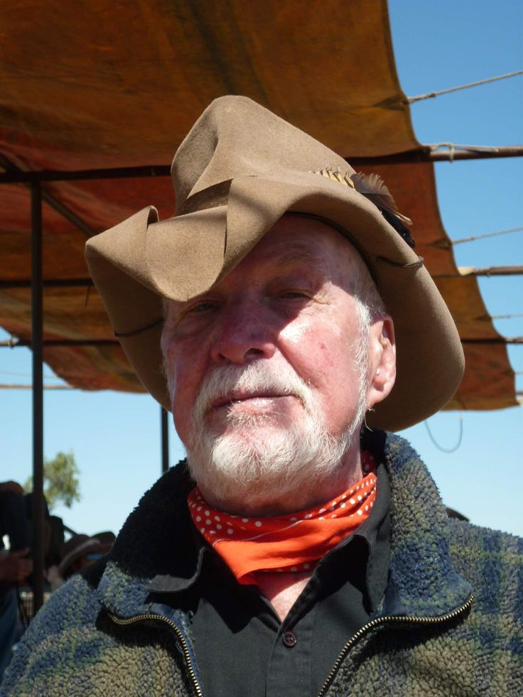 Legendary drover, Luke McCall at the Drover's Camp Festival Camooweal, Queensland, Australia