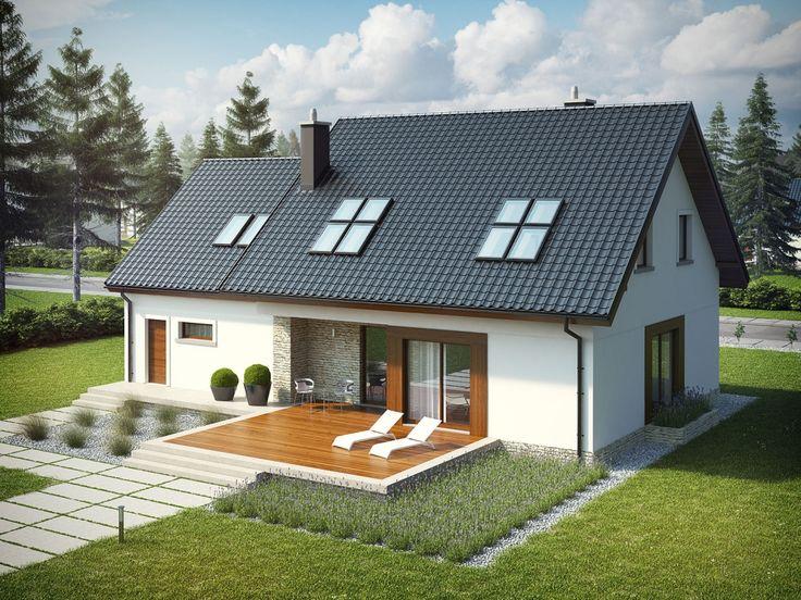 DOM.PL™ - Projekt domu AC Marcin G2 CE - DOM AF7-14 - gotowy projekt domu