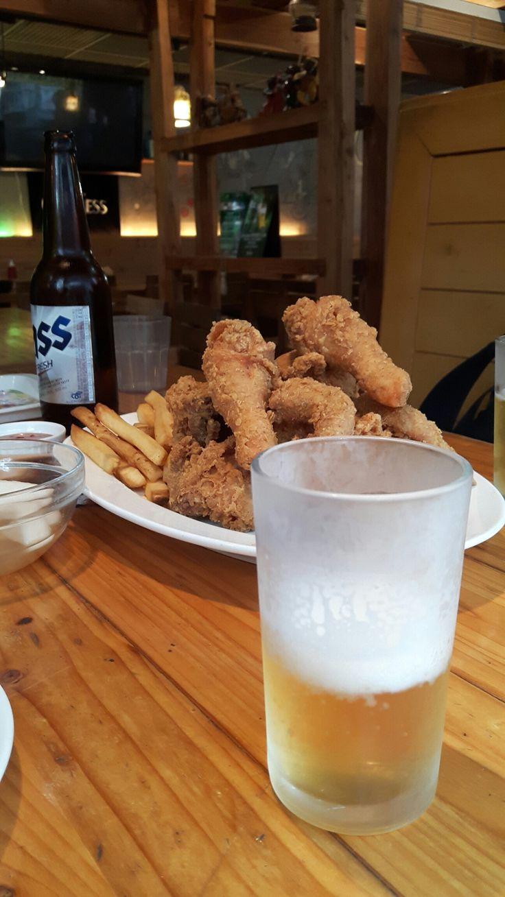 Cibak...chicken and beer ;)