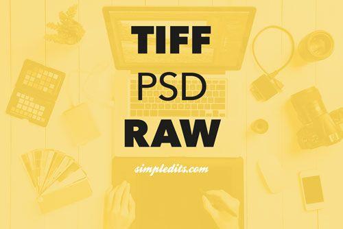 photo of TIFF PSD and RAW photo editor desktop in Primrose Yellow