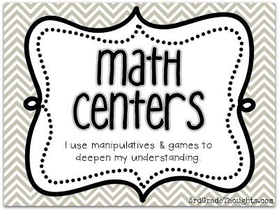 3rd Grade Thoughts: Math Rotations: Math Centers-This is the post with the link to math center games from her TPT store as well as other suggestions for center work.