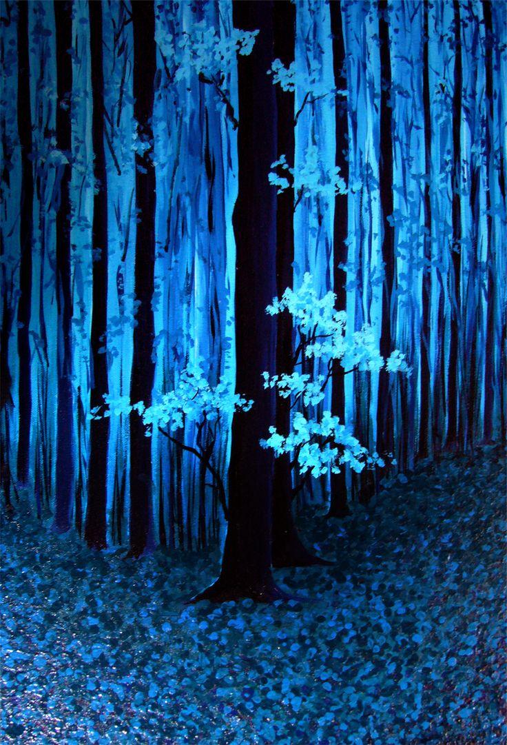 Blue Forest Landscapes Gallery Art For Sale Blue