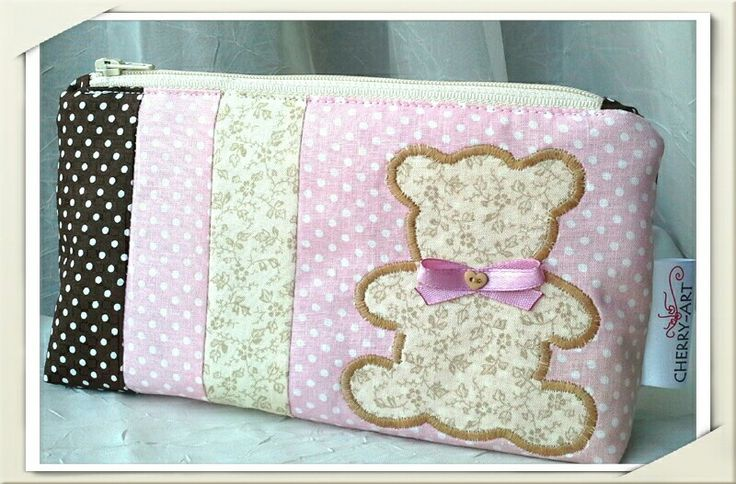 Purse with bear #bear #pink