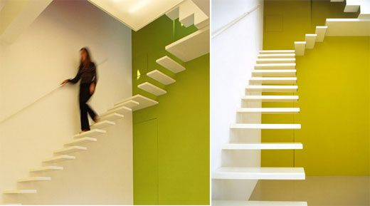 Floating Stair, Maison NW by Nathalie Wolberg Architecture.
