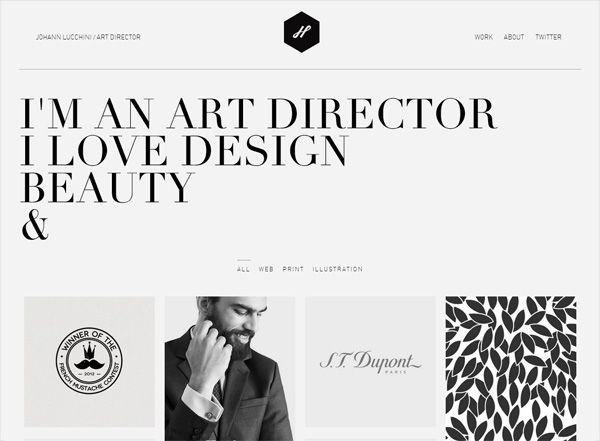 Minimalist website design inspiration: Johann Lucchini - http://johannlucchini.com