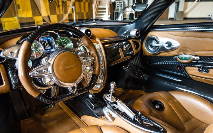 Pagani Huayra Interior | Download 1920x1200 Pagani Huayra Interior Carbon Fiber Steering Wheel ...