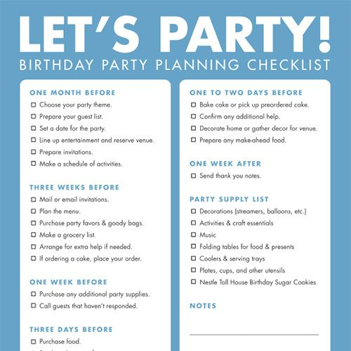 Top 25 Ideas About Party Planning Checklist On Pinterest