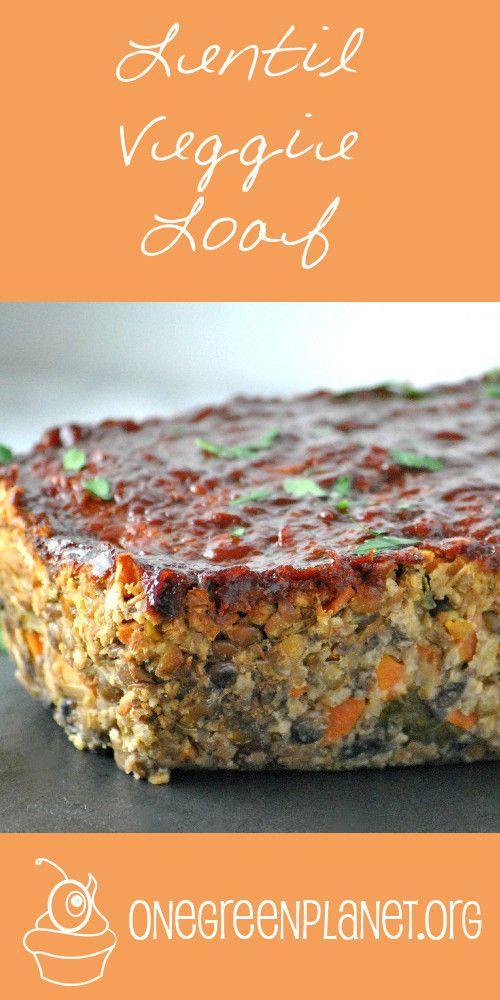 Lentil Veggie Loaf [Vegan, Gluten-Free]                                                                                                                                                     More