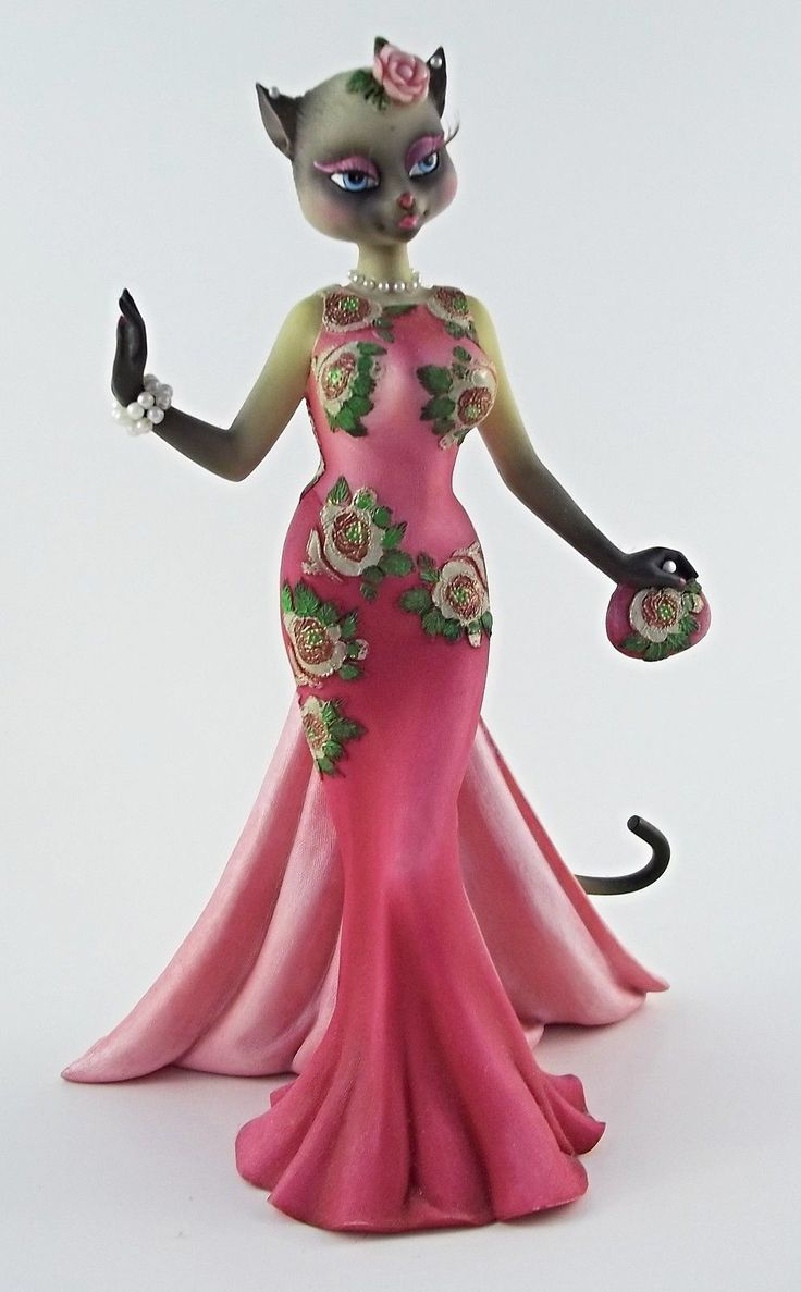 Margaret levan alley cats figurine yum retired pink