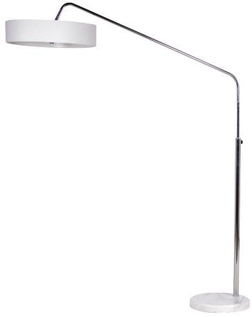 Chrome White Stand Floor Lamp £148