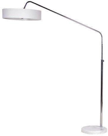 Chrome White Stand Floor Lamp £148