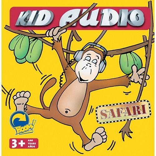 L'objectif de Kid Audio Safari est de permettre aux enfants de développer leur acuité auditive et leur mémoire tout en apprenant les cris de 30 animaux d'une façon amusante et progressive. En utilisant une association d'images, les enfants reconnaîtront l'apparence des 30 animaux. Par la suite, en utilisant le disque compact, ils pourront écouter et associer chaque cri à l'animal qui l'émet.  Age : 3 ans et plus.