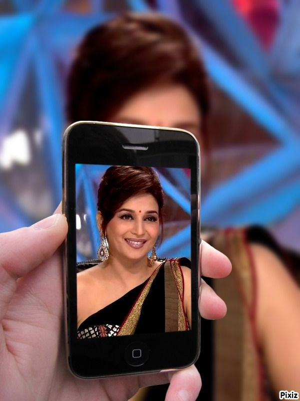 Image result for images of Madhuri Dixit and  their mobile phone