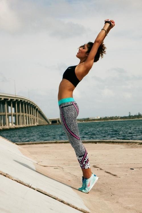 a stretch before a beach run