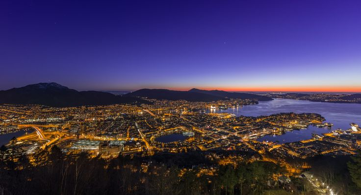City Lights of Bergen by Eirik Sørstrømmen on 500px
