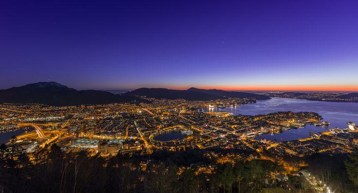 City Lights of Bergen by Eirik Sørstrømmen on 500px