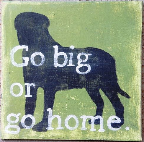 Typography style ...English Mastiff...  hand-painted wooden sign