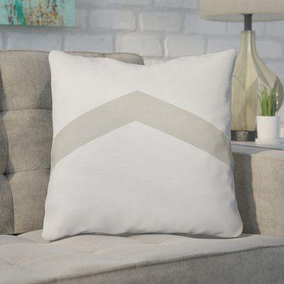 "Mercury Row Down Throw Pillow Size: 20"" H x 20"" W, Color: Oatmeal"