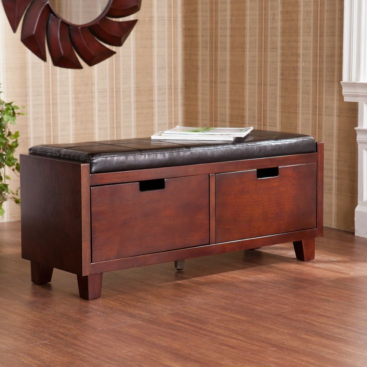 Murphy Two Drawer Storage Bench | Overstock.com Shopping   The Best Deals  On Benches