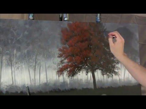 Como pintar un Árbol al oleo - YouTube