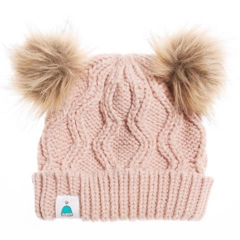 bbc2e22de Kids Pink Beanie Double Pom Pom - Carrie s Beanies for Brain Cancer ...