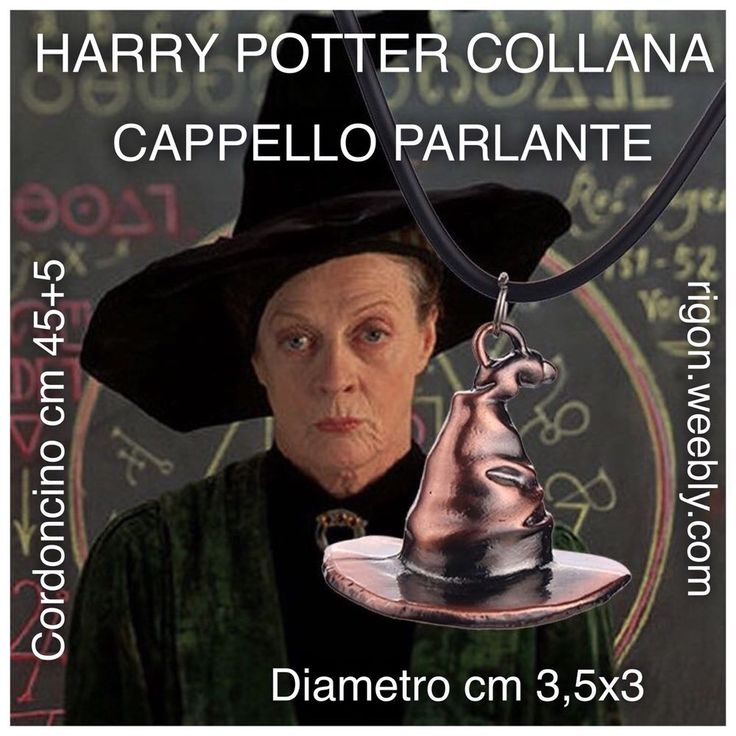 COLLANA HARRY POTTER CAPPELLO PARLANTE - SILENTE MAGIA