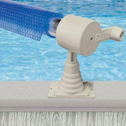 Aqua splash 24ft above ground pool solar cover reel - Swimming pool solar covers inground ...