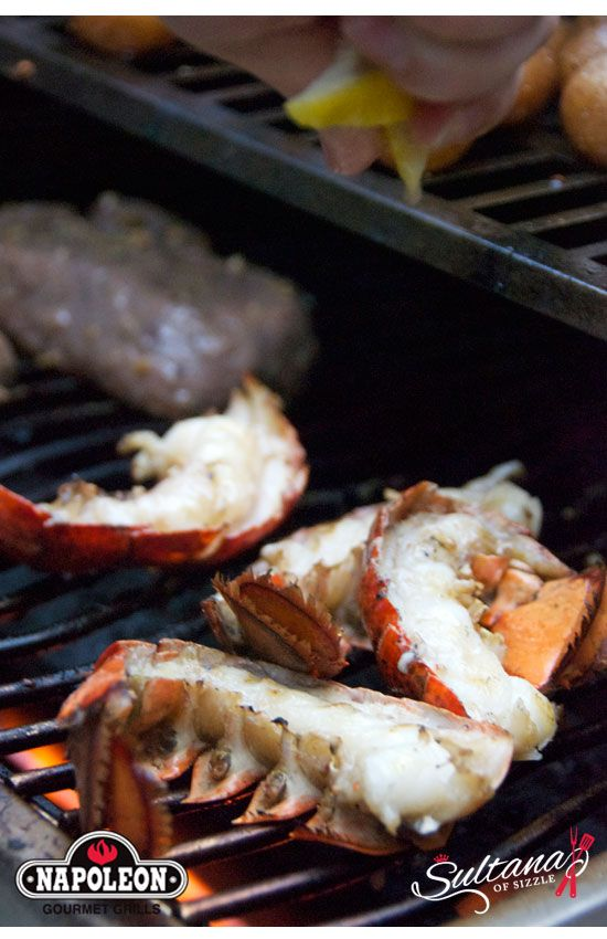 Grilled Beef Tenderloin with Lobster Tails - Surf'n'Turf
