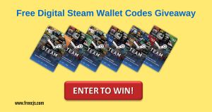 $120 Free Steam Digital Wallet Codes Giveaway.Participate now  #freesteam #steamcodes #steamgiveaway