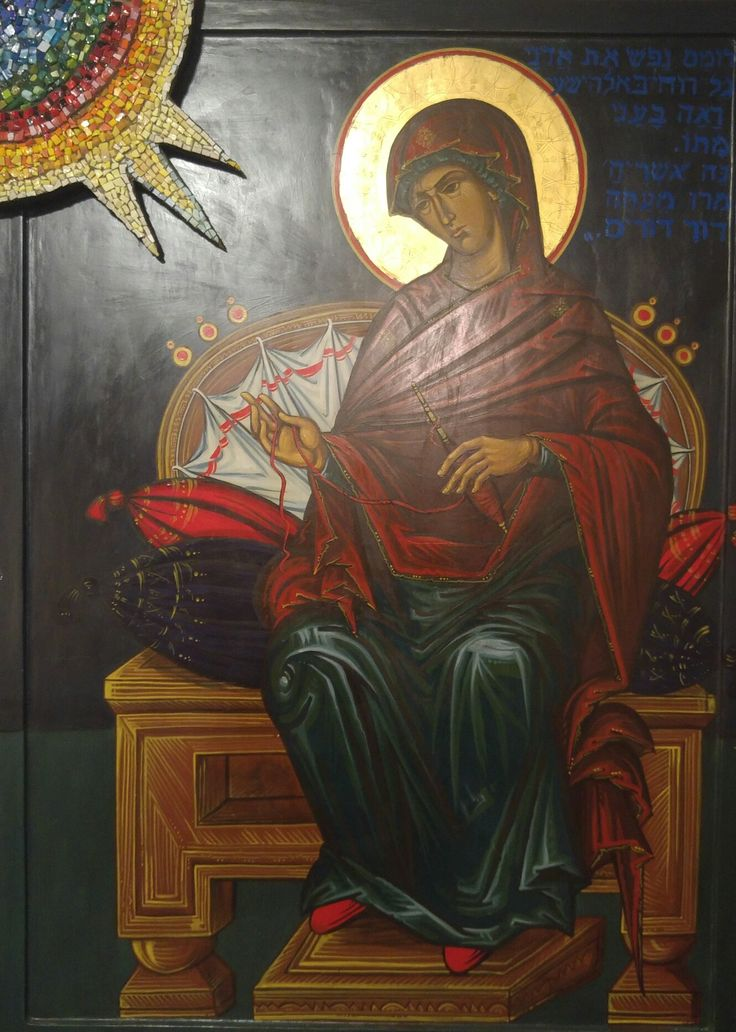 Icona Madre di Dio Annunciata Iulia Tarciniu Balan Bottegabizantina