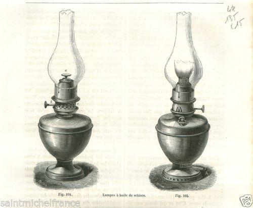 Lampe A Petrole Decor A La Feuille D Or Verre