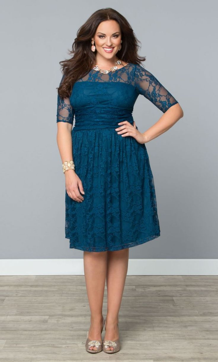 Sweet Luna Lace Dress, Crazy About Blue (Womens Plus Size) From The Plus Size Fashion Community At www.VintageAndCurvy.com