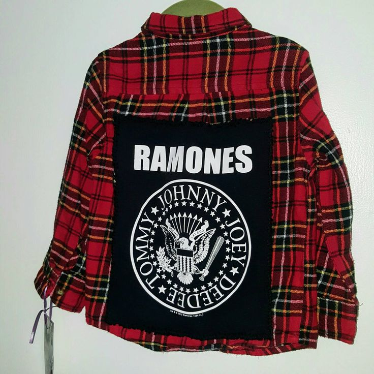 Flannel Ramones Shirt by ResouledGypsy on Etsy