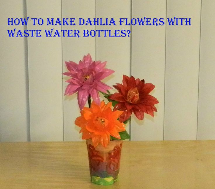 DIY: How to make Dahlia Flowers with waste water bottles