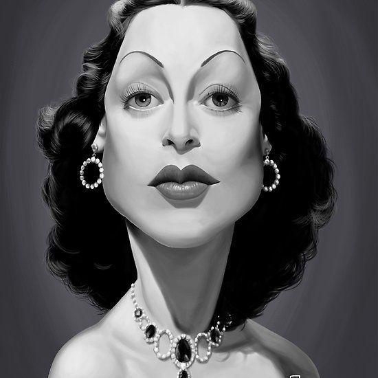 Hedy Lamarr art   decor   wall art   inspiration   caricature   home decor   idea   humor   gifts