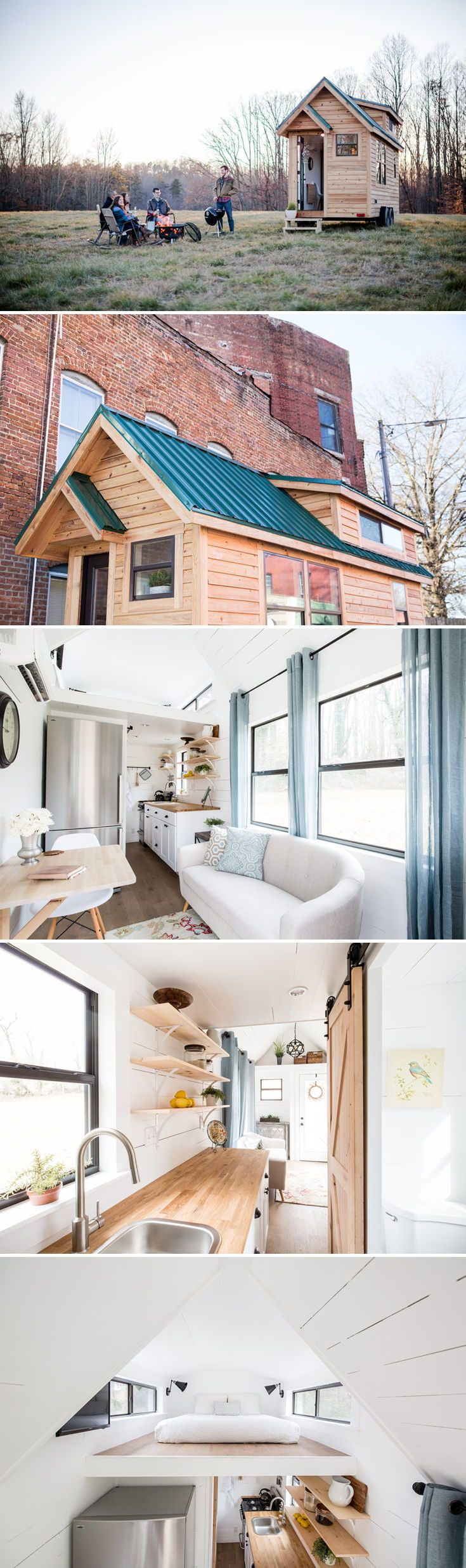 Lindley is a traditional style tiny house built byTiny Life ConstructioninGreensboro, NC. The 20′ house is ideal for a couple or single person wanting to live the tiny life.