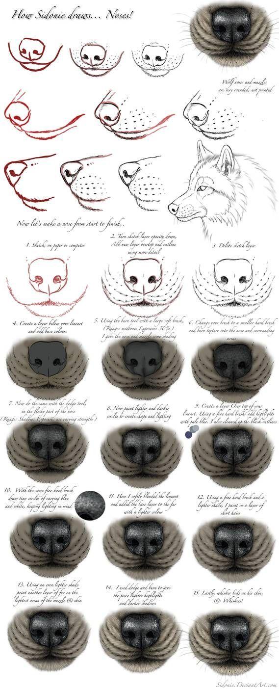 Nose Tutorial von www.deviantart.co … auf @DeviantArt,  #auf #DeviantArt #Nose #tutorial #v…