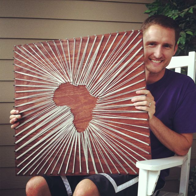String art Africa. Potentially the globe?? Pain in the butt but...