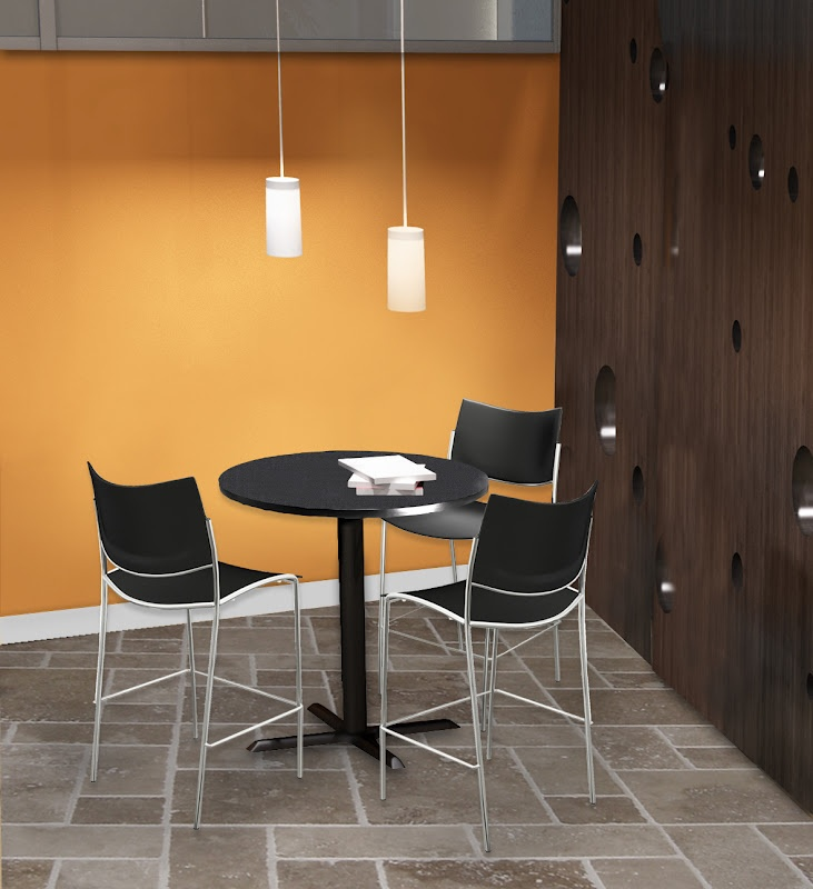 lunchroom and breakroom cafe bistro tables new tables and chairs for break room just. Black Bedroom Furniture Sets. Home Design Ideas