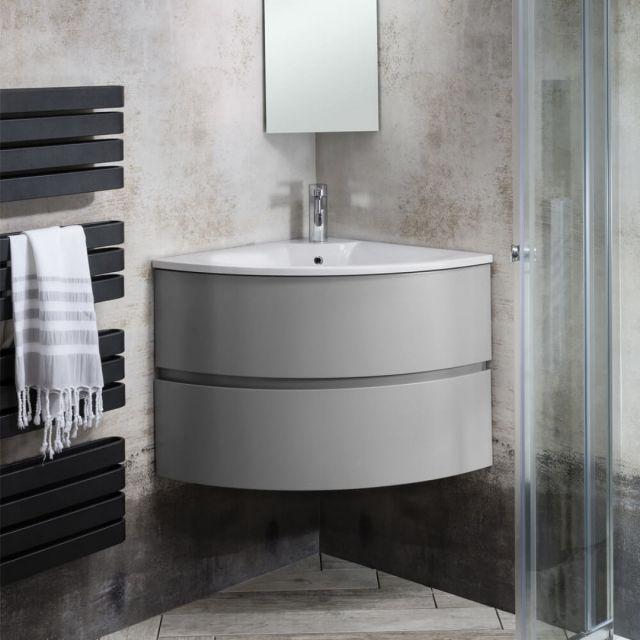 Crosswater Svelte 600mm Corner Unit Se6060dwg Corner Vanity Unit Corner Vanity Sink Basin Vanity Unit