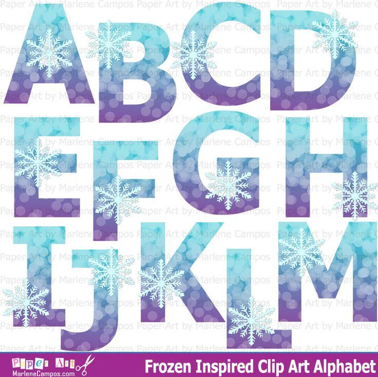 Frozen Clip art Alphabet Frozen Birthday Frozen by PaperArtbyMC