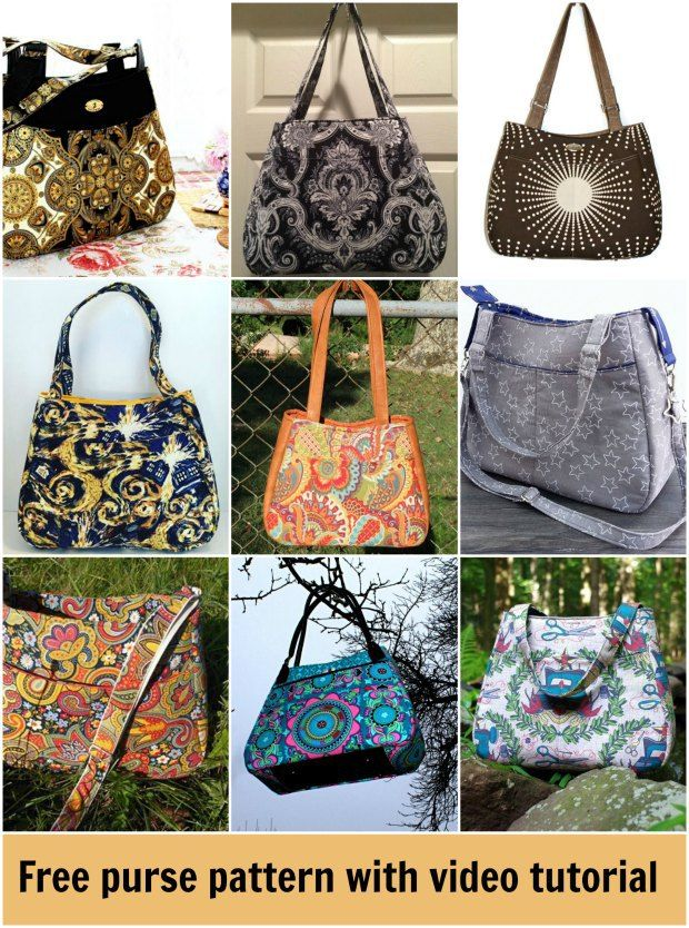 Free tote bag/purse/handbag sewing pattern with a full video tutorial.  The Ethel bag from Swoon patterns.
