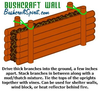 how to build a bushcraft wall