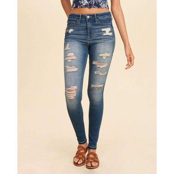 skinny high jeans damen hollister
