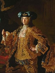 Francis I (1708 - 1765). Holy Roman Emperor from 1745 until his death in 1765. He and his wife, Maria Theresa, founded the Habsburg-Lorraine dynasty.