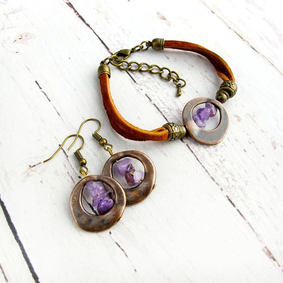 February Birthstone Jewelry-Raw Amethyst Birthstone Jewelry-Christmas Gifts for Women-Stocking Stuffers for Women-Personalized Gifts For Her