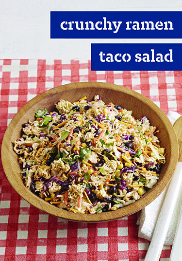 Crunchy Ramen Taco Salad – Ramen noodles, meet taco salad ...