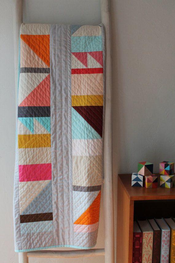 Modern Geometric Quilt PatternPDFbeginner van BrigitGail op Etsy